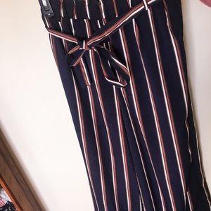 Stripped palazzo pants